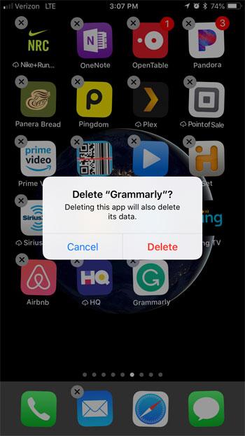 удалить стороннюю клавиатуру приложения на iphone