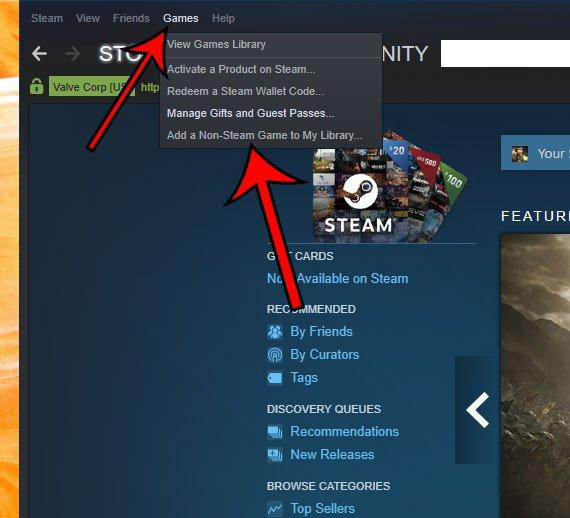 как добавить не Steam игру в Steam