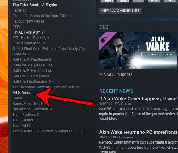 не Steam игра в библиотеке Steam