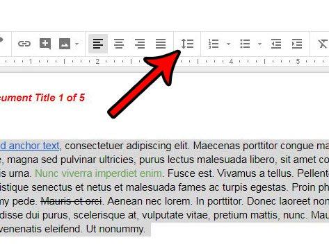 применить интервал ко всему документу в Google Docs