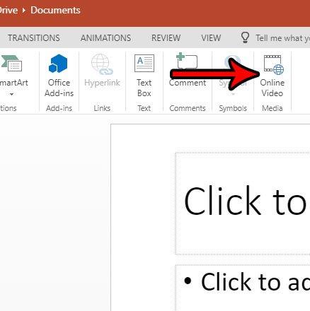 PowerPoint онлайн, как добавить видео