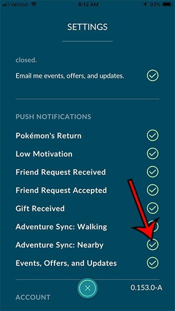 как включить Adventure Sync рядом в Pokemon Go