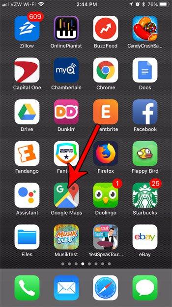 открыть гугл карты iphone