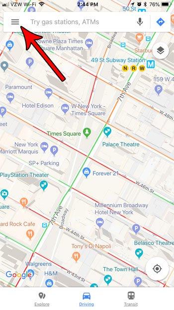 google maps настройки iphone