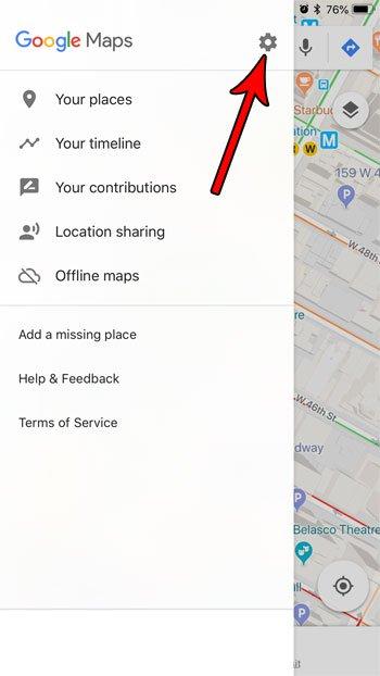 открыть настройки карт Google iphone