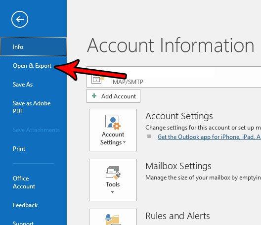 Есть ли способ сделать резервную копию папки в Outlook 2016
