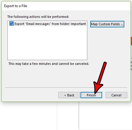 Как сделать резервную копию конкретной папки Outlook 2016