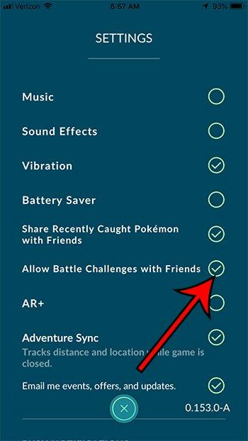 как включить или отключить боевые испытания с друзьями в Pokemon Go