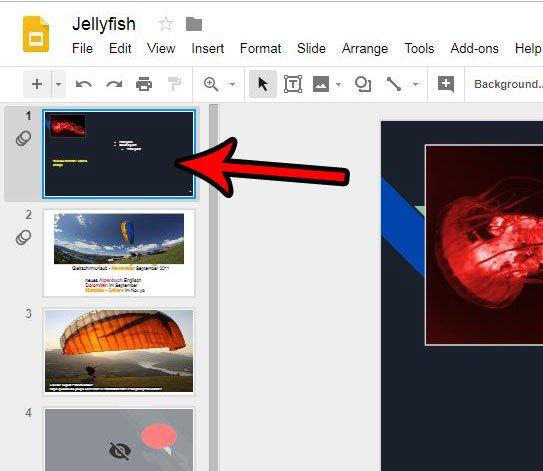 как центрировать картинку в слайдах Google