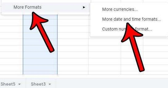 выберите опцию больше форматов даты и времени