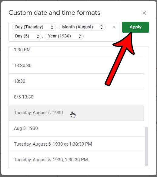 как изменить формат даты в гугл листах
