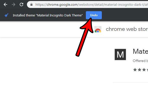 отменить переключение тем в Google Chrome