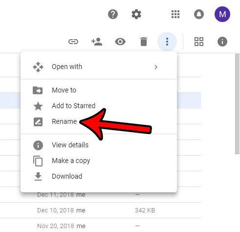 альтернативный метод для переименования файла на диске Google