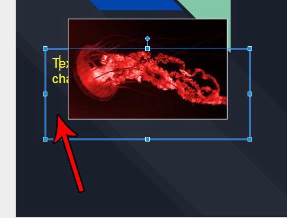 выберите объект слайда, чтобы изменить порядок
