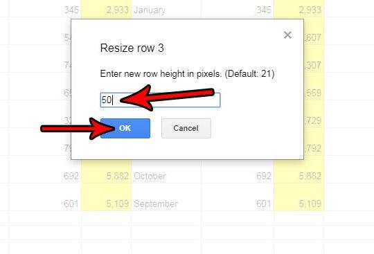 Как изменить высоту строки Google листов