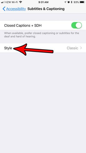 изменить расположение субтитров на iphone