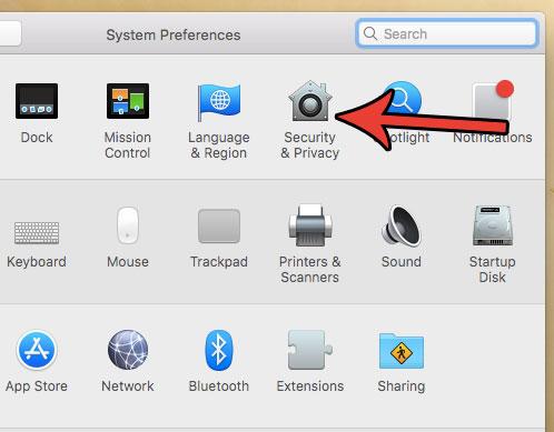 настройки безопасности и конфиденциальности macbook air