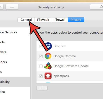 общие настройки безопасности mac