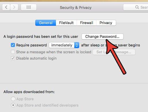 сменить пароль macbook