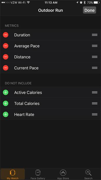 Как изменить статистику тренировок Apple Watch