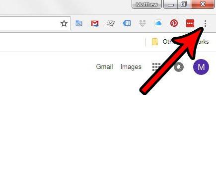 откройте меню настройки и управления Google Chrome