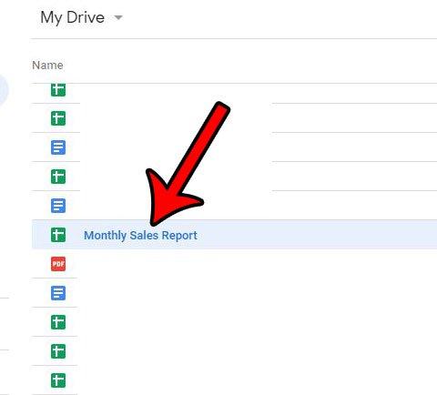 выберите файл на диске Google для копирования