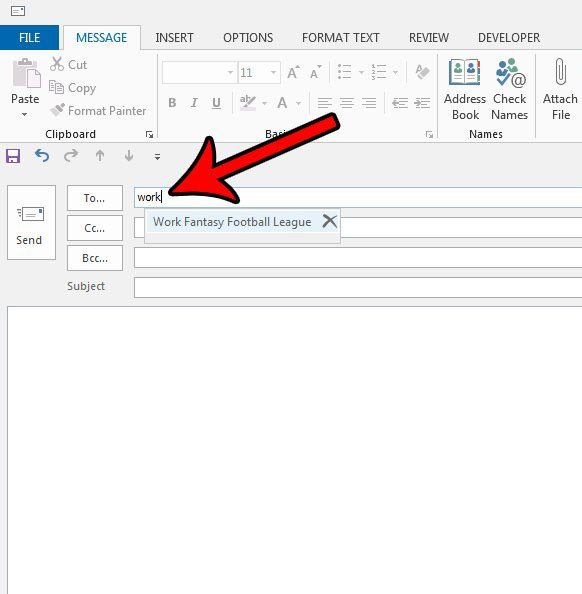 как отправить электронное письмо в список рассылки в outlook 2013