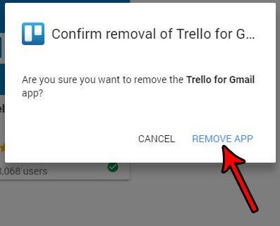 как удалить надстройку в gmail