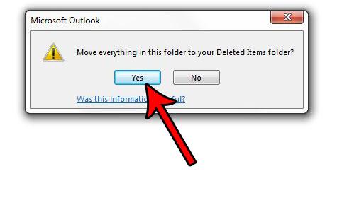 как удалить все электронные письма из папки в outlook 2013