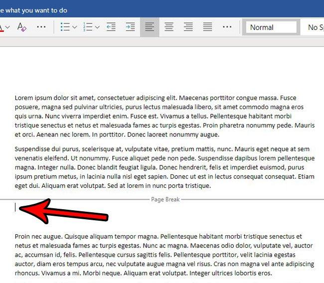 как убрать разрыв страницы в слове онлайн