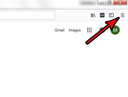 кнопка Firefox с тремя строчками