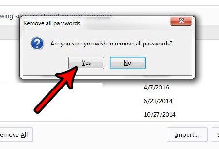 как удалить все сохраненные данные для входа в систему из Firefox