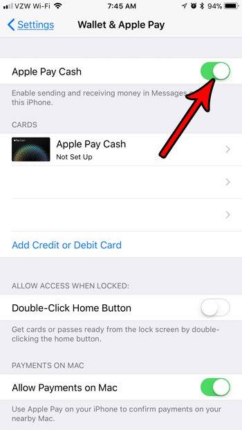 как отключить опцию оплаты Apple в сообщениях