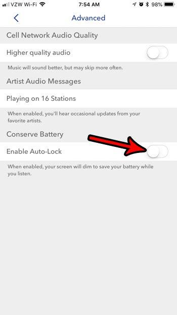 как отключить автоматическую блокировку на iphone пандоре