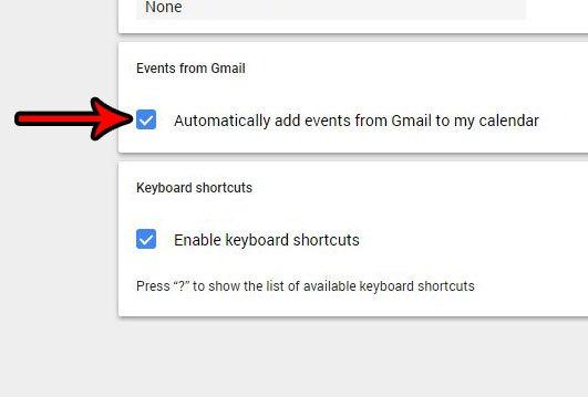 отключить автоматические события Gmail в календаре Google