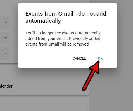 как перестать добавлять события Gmail в календарь Google