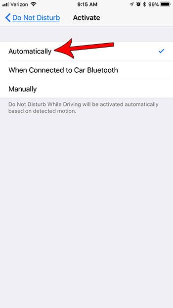 как включить не мешать автоматически при езде на iphone 7