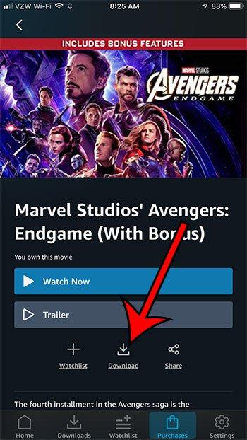 как скачать Эндгам мстителей на свой iPhone с Amazon