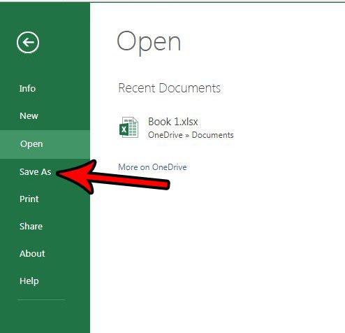 сохранить на свой компьютер из Excel онлайн