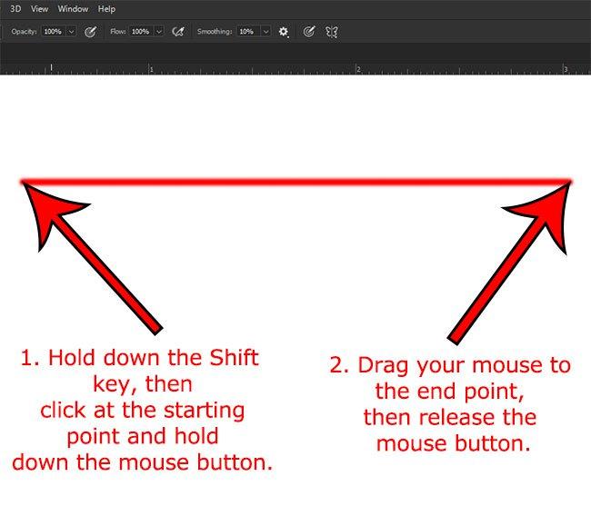 Как нарисовать горизонтальную линию