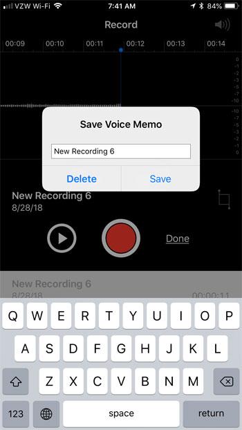 сохранить запись голосовой заметки на iphone