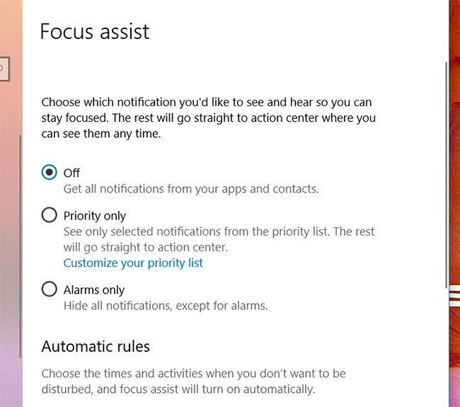 как использовать Focus Assist в Windows 10