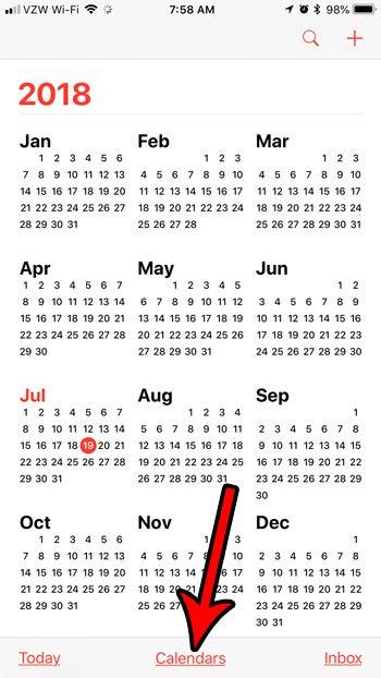 удалить праздники из календаря на моем iphone