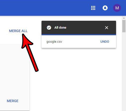 объединить дубликаты контактов в Gmail из CSV импорта