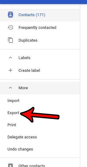 экспортировать существующие контакты Google