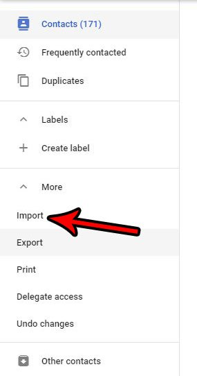 контакты gmail csv импорт