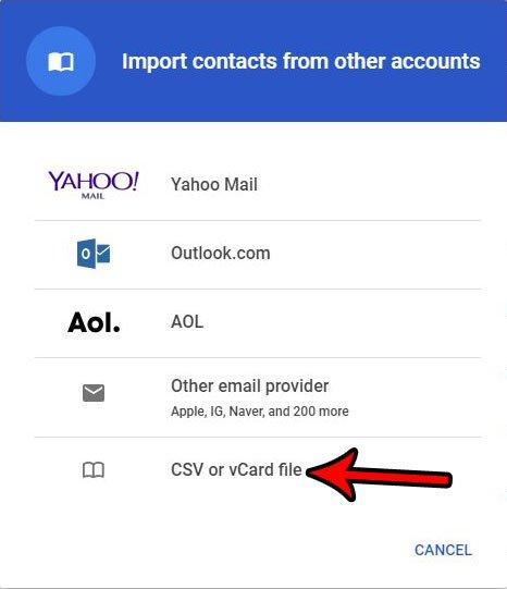 Как импортировать контакты с CSV-файла в Gmail