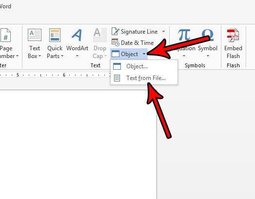 как вставить файл слово 2013