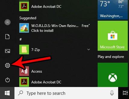 открыть настройки windows 10