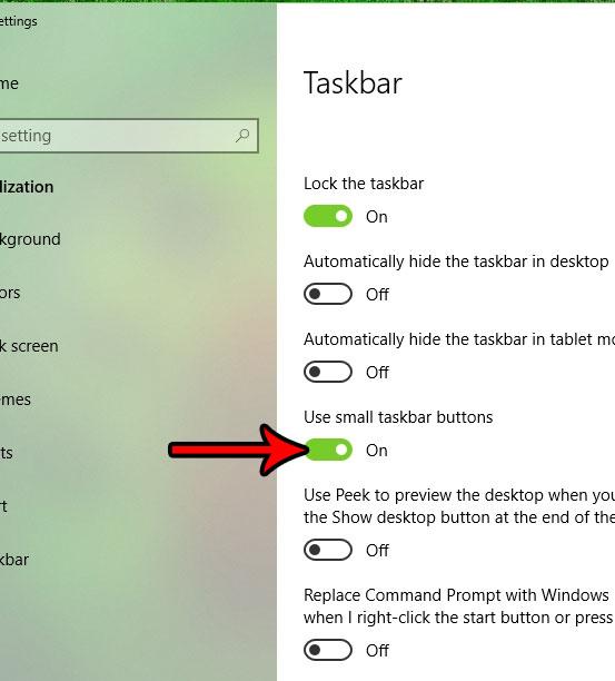 как сделать кнопки панели задач меньше в Windows 10